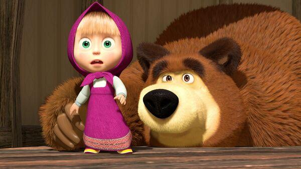 Masha e Orso – i protagonisti del cartone animato russo  - Sputnik Italia