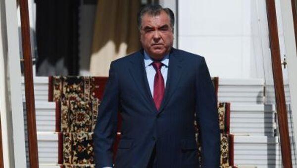 Прилет президента Таджикистана Эмомали Рахмона в Москву - Sputnik Italia