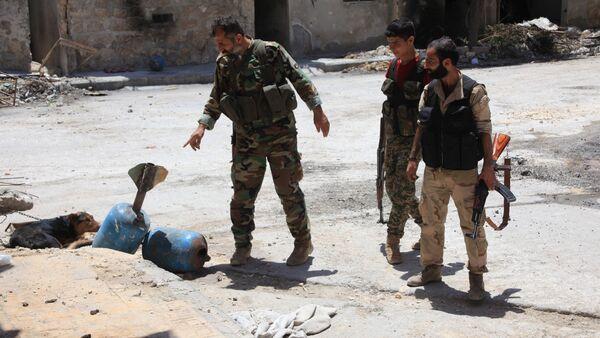 Soldati dell'esercito siriano - Sputnik Italia