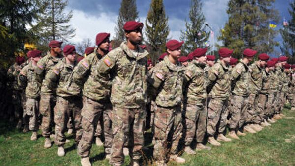 Le esercitazioni  Fearless Guardian 2015  dell`173. armata USA in Ucraina - Sputnik Italia