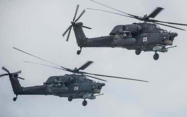 Elicotteri Mi-28 in volo. - Sputnik Italia