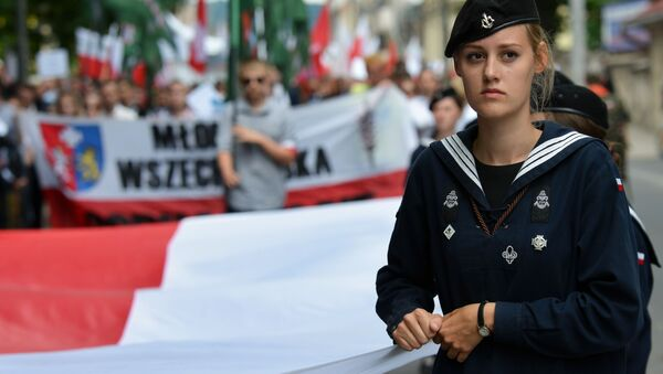 Марш памяти жертв Волынской резни в Польше - Sputnik Italia
