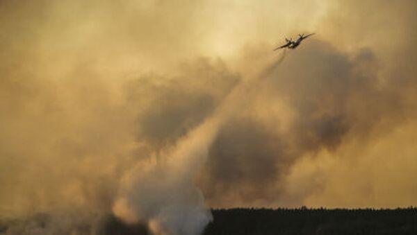 Aereo spegne il fuoco nel bosco vicino a Chernobyl - Sputnik Italia