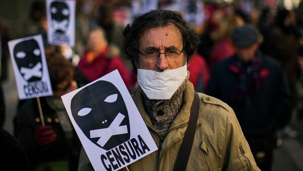 A demonstrator - Sputnik Italia