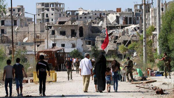 Strade di Aleppo presidiate dall'esercito siriano - Sputnik Italia
