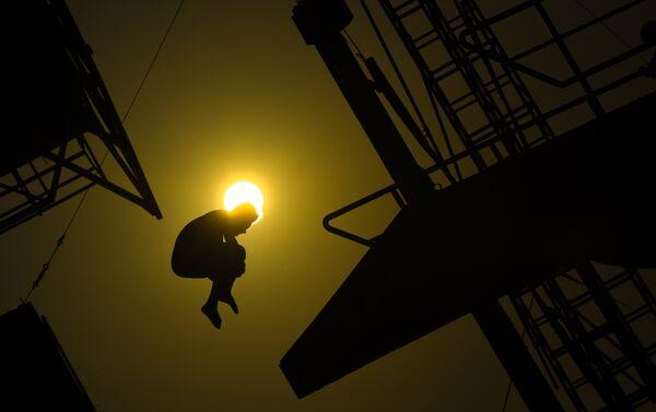 Un allenamento dei saltatori prima delle Olimpiadi - Sputnik Italia