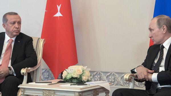 Incontro tra Vladimir Putin e Recep Tayyip Erdogan a San Pietroburgo - Sputnik Italia