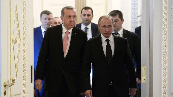 Incontro tra Putin e Erdogan a San Pietroburgo - Sputnik Italia