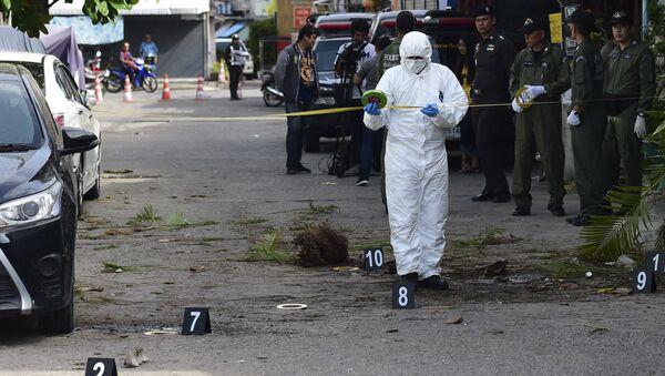 Il luogo dell'attentato a Hua Hin, Thailandia - Sputnik Italia