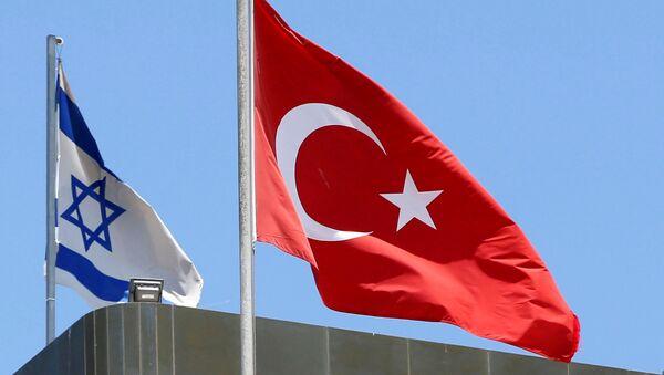 Bandiere della Turchia e d'Israele - Sputnik Italia