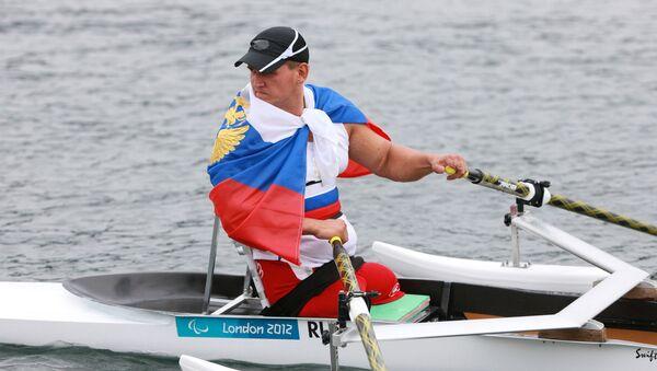 Atleta russo aprtecipa alle Paralimpiadi 2012 a Londra - Sputnik Italia