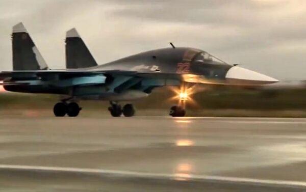 Caccia Su-34 dell'operazione militare russa in Siria (foto d'archivio) - Sputnik Italia