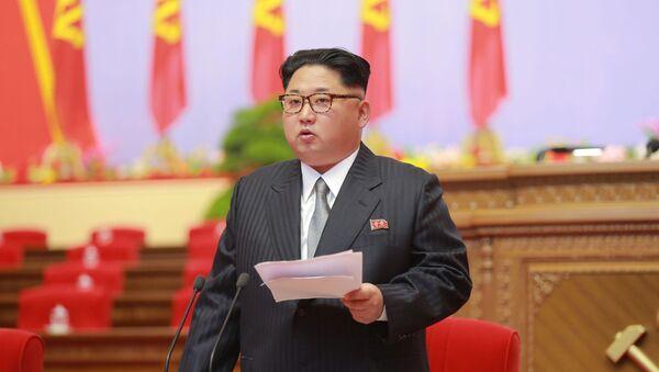 Leader della Corea del Nord Kim Jong-un al congresso del Partito dei Lavoratori di Corea a Pyongyang - Sputnik Italia