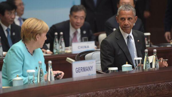 Angela Merkel e Barack Obama al vertice G20 - Sputnik Italia