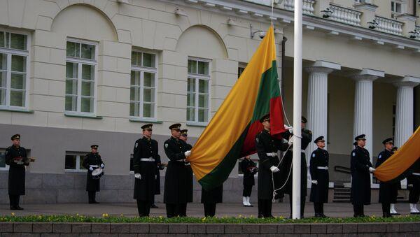 Lithuanian flag rising at the President Palace - Sputnik Italia