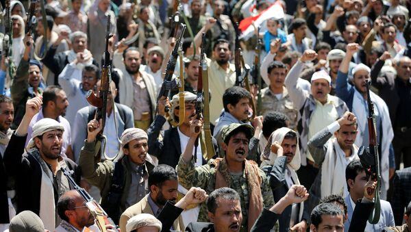 Manifestanti presso gli uffici dell'ONU in Yemen - Sputnik Italia