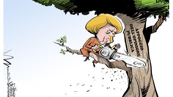 Merkel senza appoggio dell'opinione pubblica - Sputnik Italia