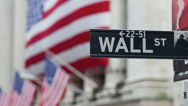 A Wall Street sign hangs near the New York Stock Exchange. - Sputnik Italia