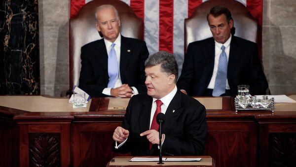 Poroshenko in visita negli Stati Uniti parla al Congresso. - Sputnik Italia