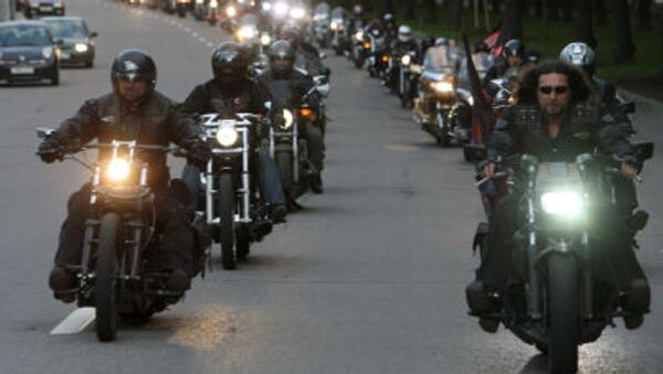 I motociclisti del gruppo Lupi Notturni. - Sputnik Italia
