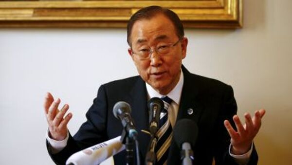 Генеральный секретарь ООН Пан Ги Мун - Sputnik Italia
