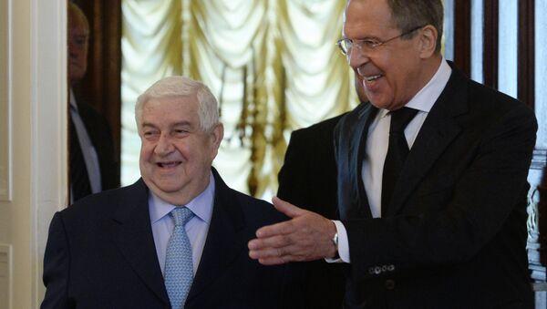 Sergei Lavrov e Walid Muallem - Sputnik Italia