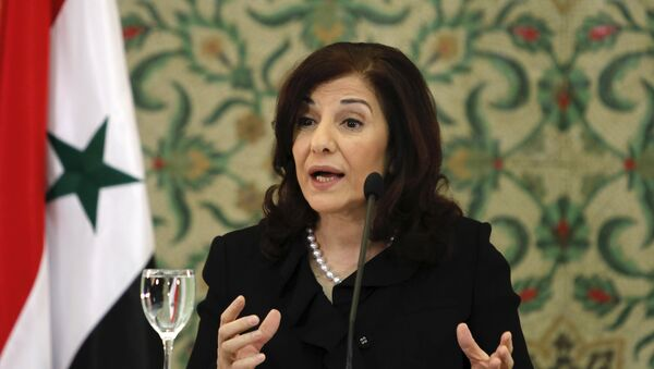 Bouthaina Shaaban, consigliere del presidente siriano Bashar al-Assad. - Sputnik Italia