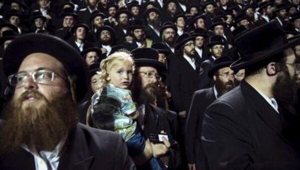 Ультраортодоксальные евреи празднуют Лаг ба-Омер  - Sputnik Italia