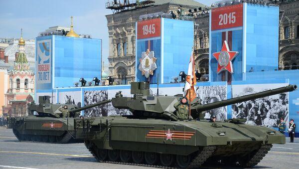 Alla parata della Vittoria sfila il nuovissimo carro armato Armata. - Sputnik Italia