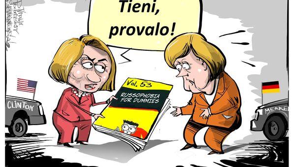 Merkel e Clinton - Sputnik Italia