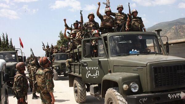 Soldati siriani nei pressi di Damasco - Sputnik Italia