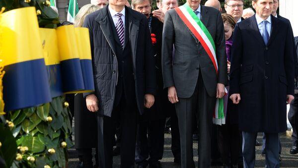 Il deputato russo Sergey Narishkin, il sindaco di Torino Piero Fassino e l'Ambasciatore russo in Italia Sergey Razov - Sputnik Italia