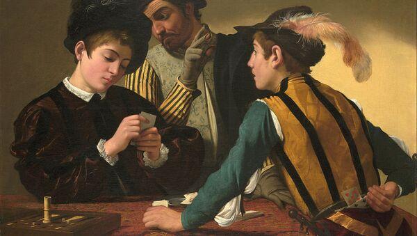Caravaggio (Michelangelo Merisi) - The Cardsharps - Google Art Project - Sputnik Italia
