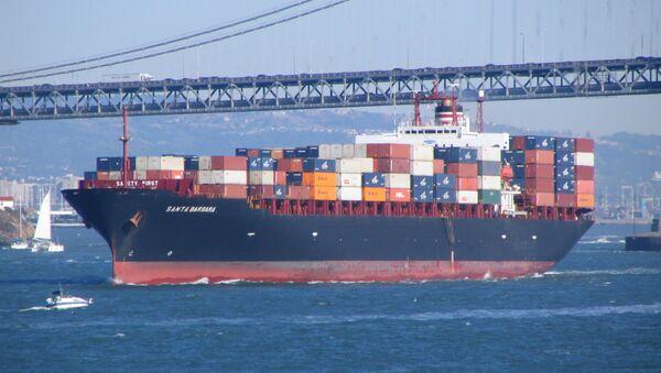 A container ship leaves the bay area. - Sputnik Italia