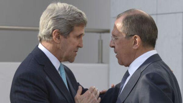Министр иностранных дел России Сергей Лавров и госсекретарь США Джон Керри - Sputnik Italia