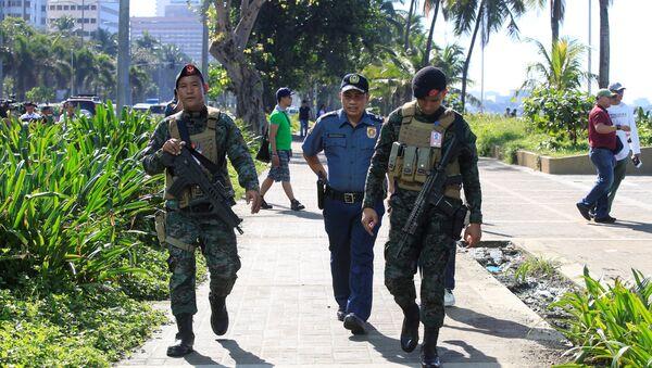 Agenti della Polizia Nazionale delle Filippine (PNP) - Sputnik Italia