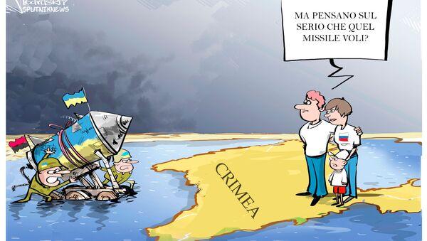 Crimea missili vignetta - Sputnik Italia