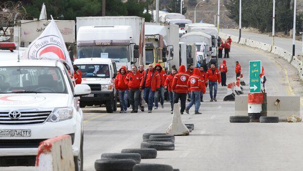 Volontari della Mezzaluna Rossa siriana - Sputnik Italia