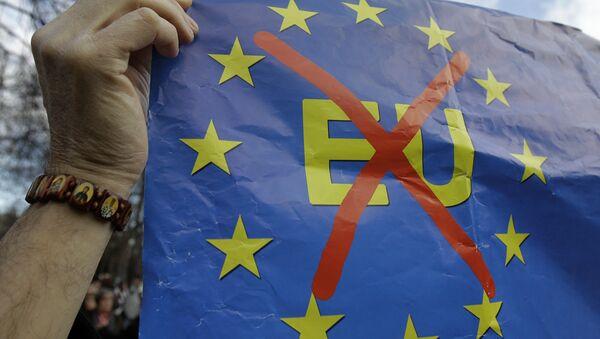 Cartello Anti-UE - Sputnik Italia