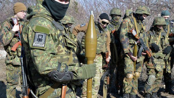 Paramilitari del battaglione ucraino Azov nel Donbass - Sputnik Italia