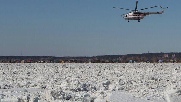 The river Tom in the city of Tomsk during ice break-up. - Sputnik Italia