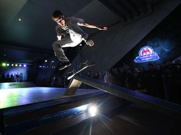 Un campionato di skateboard nella metropolitana. - Sputnik Italia