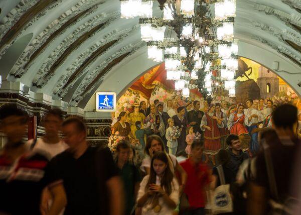 La stazione Kievskaya nella metro di Mosca. - Sputnik Italia