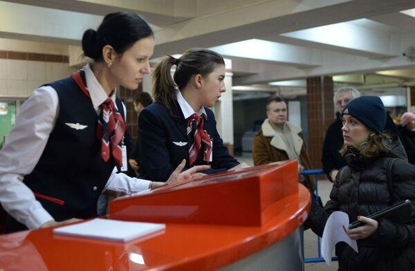 Punto informativo per i passeggeri alla stazione Komsomolskaya. - Sputnik Italia