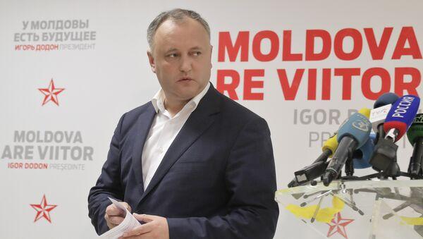 Il Presidente moldavo Igor Dodon - Sputnik Italia