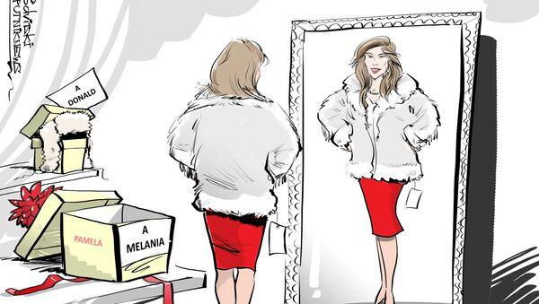 Pamela Anderson regala a Melania Trump una pelliccia di pelli ecologiche russe - Sputnik Italia