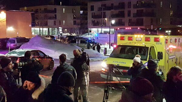 Il luogo della sparatoia nel Centro culturale islamico a Quebec City, Canada, il 29 Gennaio 2017 - Sputnik Italia