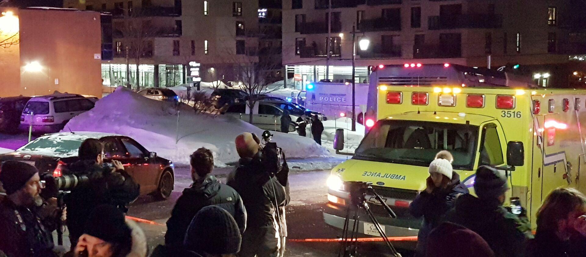 Il luogo della sparatoia nel Centro culturale islamico a Quebec City, Canada, il 29 Gennaio 2017 - Sputnik Italia, 1920, 30.01.2017