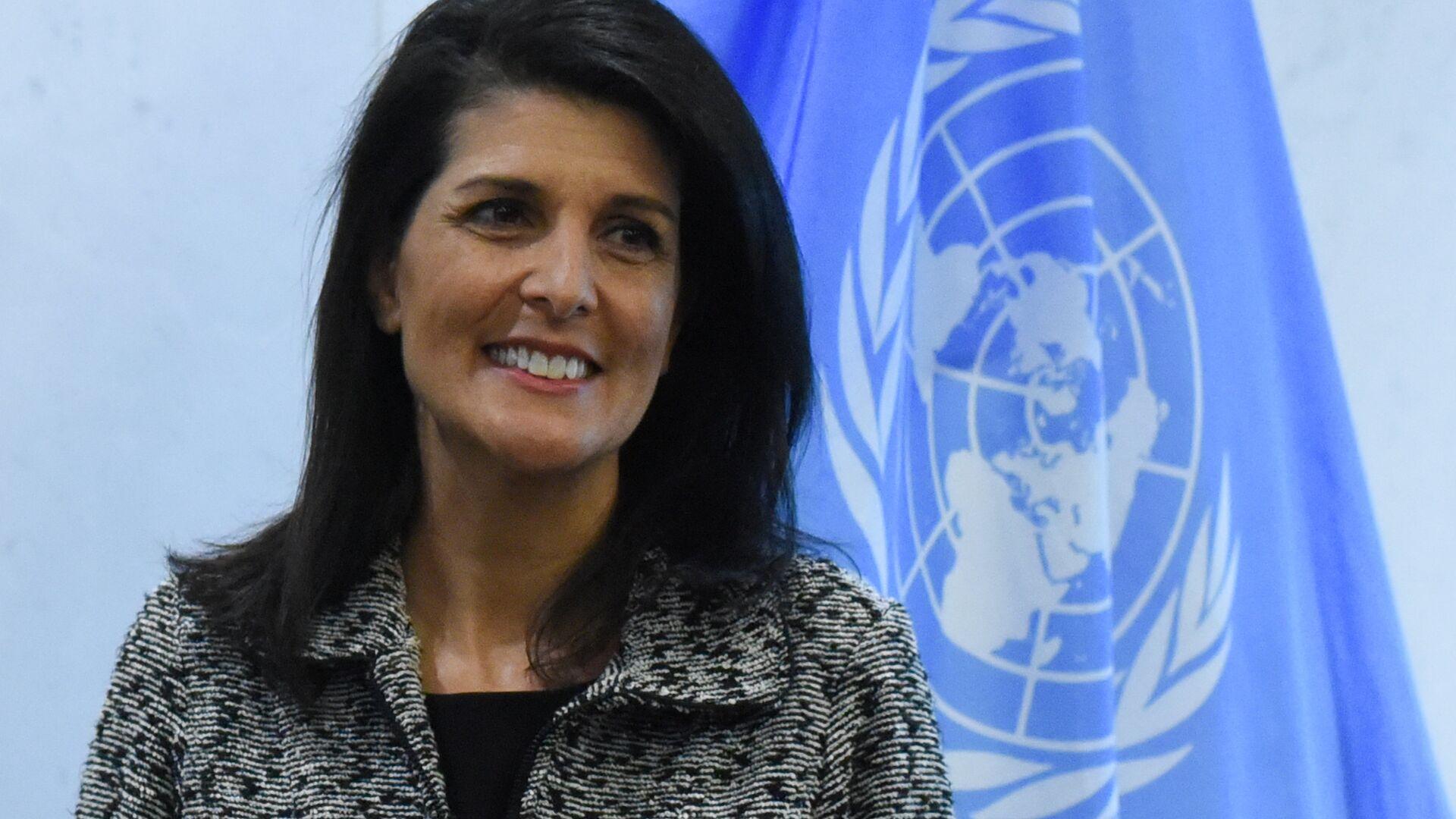 Rappresentante permanente USA all'ONU Nikki Haley - Sputnik Italia, 1920, 17.06.2021