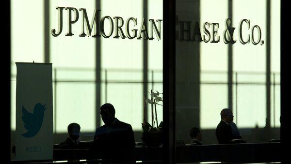 La JP Morgan, la Citigroup, la Bank of America, la Royal Bank of Scotland, la HSBC e l'UBS – che, per lo stesso reato, pagarono complessivamente una penale di 4,3 miliardi. - Sputnik Italia